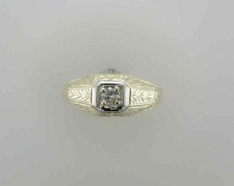 Man's Yellow Gold Diamond Wedding Ring 18 Karat