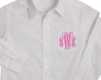 3 Letter Monogram Shirt, Wedding Shirt