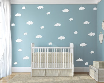 Cloud decal, White cloud wall decals