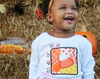 Candy Corn Cutie shirt or one piece bodysuit- Halloween shirt- Candy Corn bow shirt