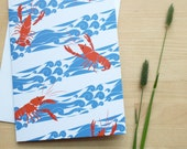 Maine Lobster Greeting Card (Blank)