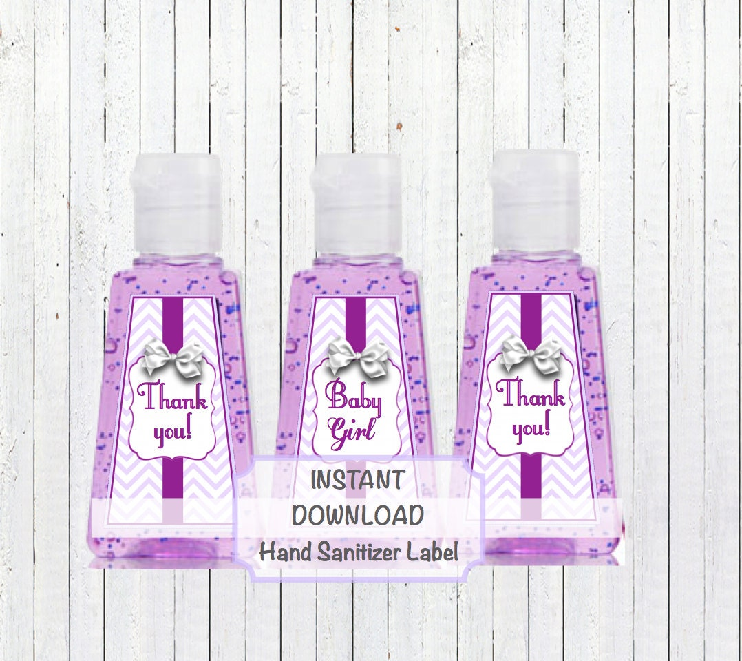 Hand Sanitizer Favors Label