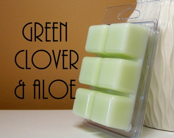 Green Clover and Aloe Scented Candle Tarts
