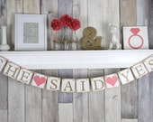 Bridal Shower Banner, She said yes banner, Engagement party Banner, Rustic Bridal Shower Banner, She said yes Sign