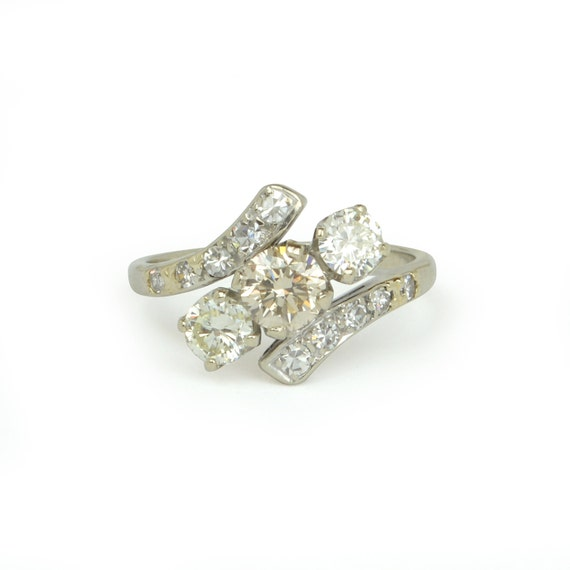 Items similar to Vintage 1940s Diamond Engagement Ring in 14k White Gold on Etsy