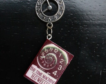 Time Machine Mini Book Necklace
