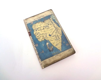 Africa Travel Diary, Old World Adventure Travel Journal, Antique Map Notebook, Explorer's Travel Log, Altered Art Journal