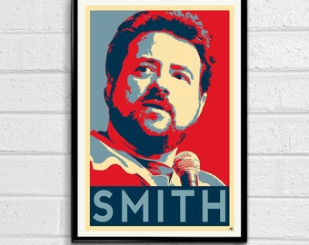 Kevin Smith Comedy Director Nerd Icon Pop Art Poster Print Canvas
