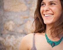 Macrame Jewelry  Labradorite Pocahontas Necklace, natural macrame necklace, Turquoise necklace, Labradorite Necklace, fiery labradorite