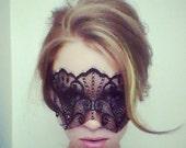 Black Lace Face Mask - Masquerade Black Lace Venetian Mask - Black Venetian Mask - 50 Shades of Grey Lace Mask - 50 Shades SM Blindfold