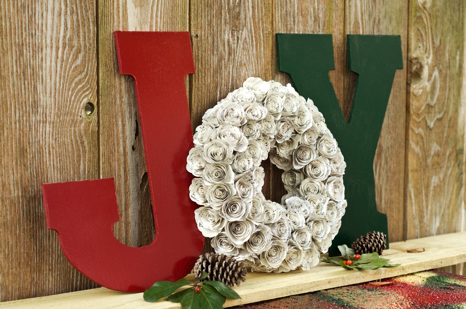 Ready To Ship Joy Christmas Decor Letter And By