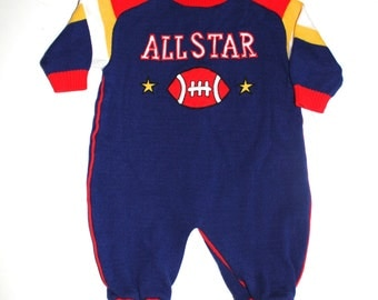 RETRO BABY BOY - Vintage All Star Jumpsuit - Hipster Baby  - 6 to 9 Months