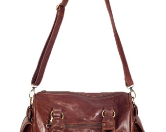 VAGABOND. Leather carry on luggage / leather weekender bag / leather travel bag / oversized leather bag / leather crossbody / leather duffle