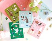 Animals Greeting Cards - Box Set of 8