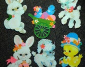 Easter Bulletin Board Die Cuts, Classroom Decorations, Bulletin Board, 1960s-80s Very Good Vintage Condition