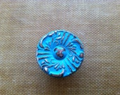 Knobs Painted Turquoise with Distresing - Handle, Furniture, Furniture Knobs, Dresser Knobs, Pull, Hardware, Drawer Pull, Dresser