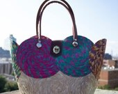 1940s style tropical basket woven tote