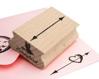 Double headed arrow stamp
