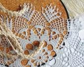 SALE 30% OFF: Blue crochet doily Pale blue doily Lace Crochet table decoration Pineapple doily Home decor