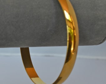 Retro Vintage TRIFARI Bangle Bracelet Gold Modernist Cool Made in USA Elegant