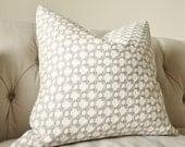 Schumacher - Betwixt - Stone Gray Pillow - Neutral Grey Designer Pillow - Greige White - Throw Pillow - Designer Pillow