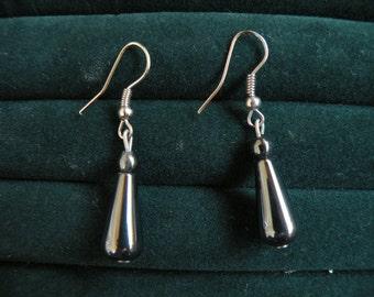 Vintage Gun Metal Gray Earrings