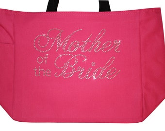 Mother of the Bride Tote  Bag Rhinestones for Wedding Gift Mother of the Bride MOB hp7