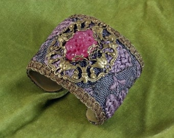 Victorian Antique Lace Cuff Bracelet - STATEMENT