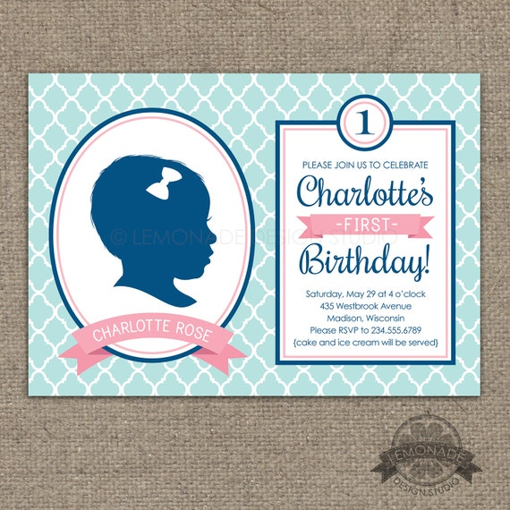 Custom Silhouette Invitation AND Poster