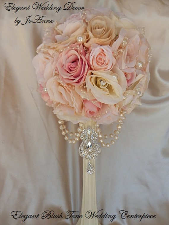 Items similar to pair wedding centerpieces blush pink mix