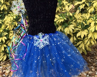 Anna Costume, Anna Tutu, Frozen Costume, Blue Tutu, Snowflake Tutu, Anna Frozen Dress, Frozen, Frozen Party, Frozen Tutu Dress, Disney Trip
