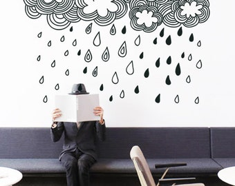 Doodle Clouds - Wall Sticker