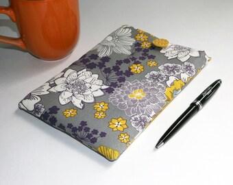 Purple, Goldenrod and Gray Floral Print - Kindle, ipad Mini, Nexus 5 Sleeve