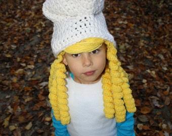 Smurf Smurfette EASY Crochet Hat PDF Pattern Size Child & Teen/Adult Buy 2 Get 1 FREE
