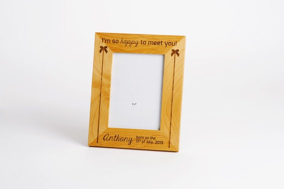 Engraved Picture Frames Wedding Favors : Picture Frame, Engraved Wedding Gift, Personalized Wood Picture Frame ...