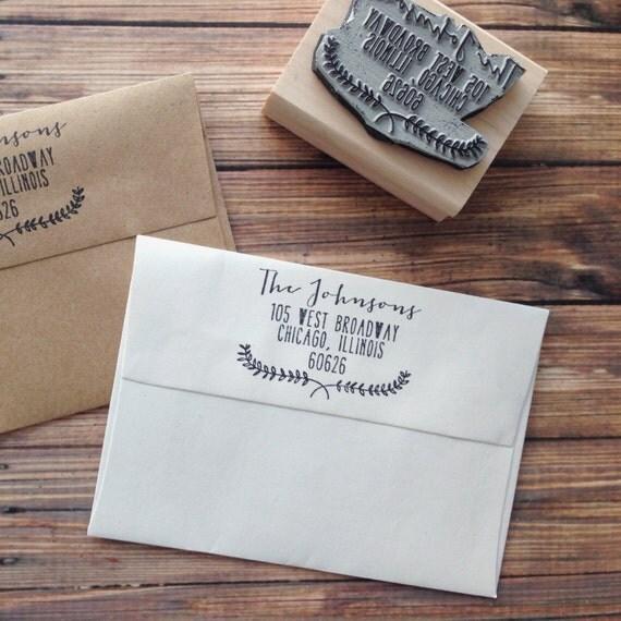 Items Similar To Wedding Invitation Stamp, Custom Address