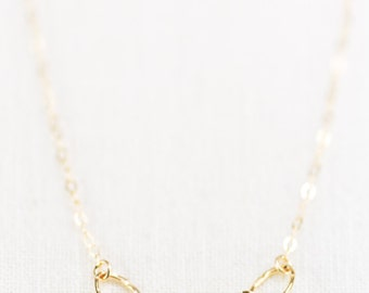 Leilani necklace - gold necklace, delicate gold necklace, dainty gold necklace, bridesmaid jewelry, gold bridesmaid necklace, hawaii jewelry