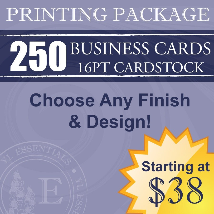 250 Young Living Business Cards Design & Printing by