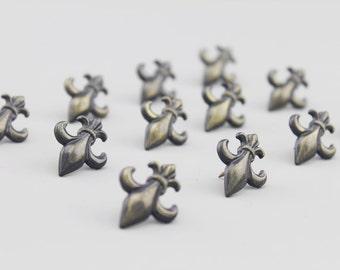 Vintage Flower Push Pins - Zinc Alloy Push Pin - Thumbtack - Drawing Pin - Tack - 4 pcs