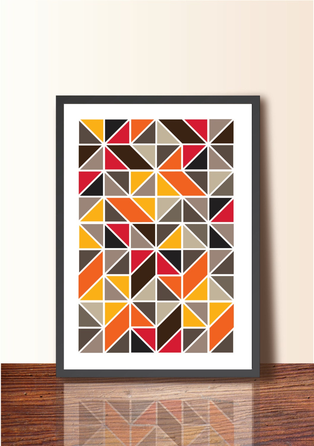 Geometric Design Wall Art : Geometric print poster a size wall art