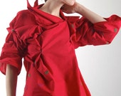 high fashion top, changeable, haute couture blouse, wearable art, women blouse, art clothing, women top, art clothes, modern top
