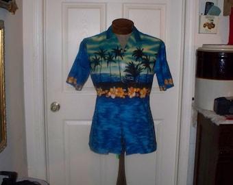 Vintage 1980s Royal Creations Hawaiian Shirt - Mens Hawaiian Shirt - Size M - 100% Cotton