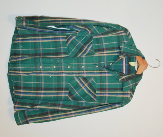 Flannel Shirt Plaid Shirt Green And Black Plaid Shirt