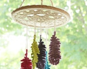 DIY Crochet PATTERN - Dreaming of Feathers Mobile (2014021): dream catcher, crochet pattern, baby mobile, crochet wall art, macrame