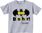 Big Brother Shirts and Tshirts with Black and Yellow WritingTees