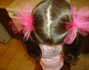 2 to 12 Tulle Ponytail Holders