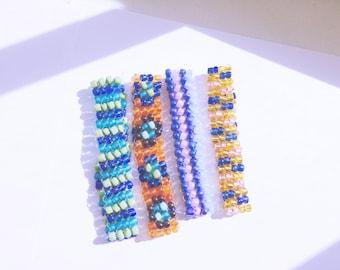 Unique Slim Bead Crochet Bracelet