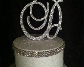 Bling Monogram Cake Topper