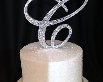 rose gold glitter wedding cake topper gold glitter monogram cake topper all fonts any 19276