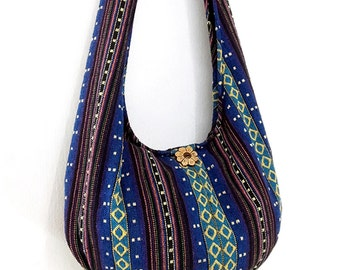Woven Cotton Bag Hippie bag Hobo Boho bag Shoulder bag Sling bag Gypsy bag Tote Crossbody bag Purse Women bag Handbags Long Strap (WF17)